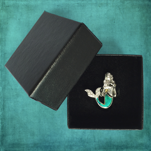 Ocea Creations Mermaid Mood Ring - Black Gift Box
