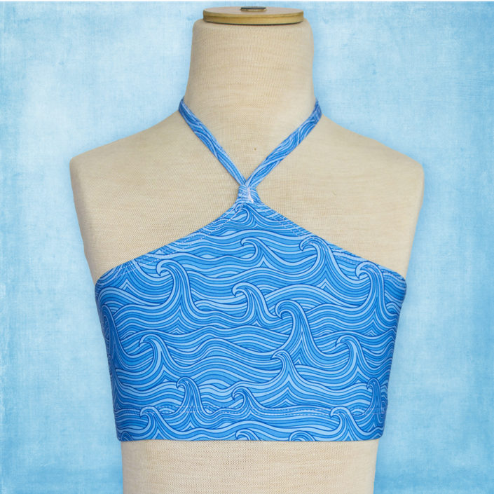 Ocea Creations Mermaid Top - Blue Waves