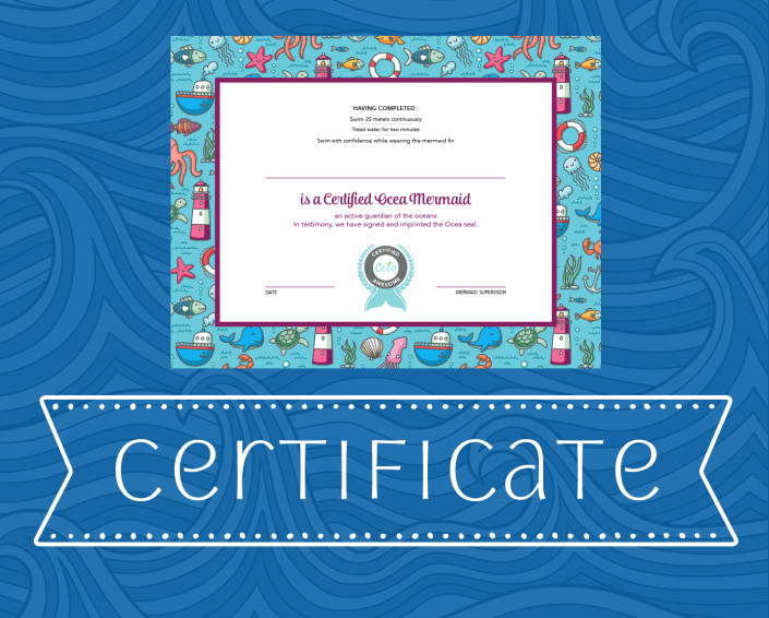 Oce Mermaid Tail Mermaid Certificate