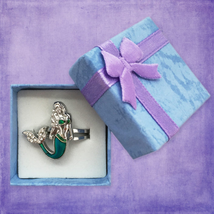Ocea Creations Mermaid Mood Ring - Purple Gift Box