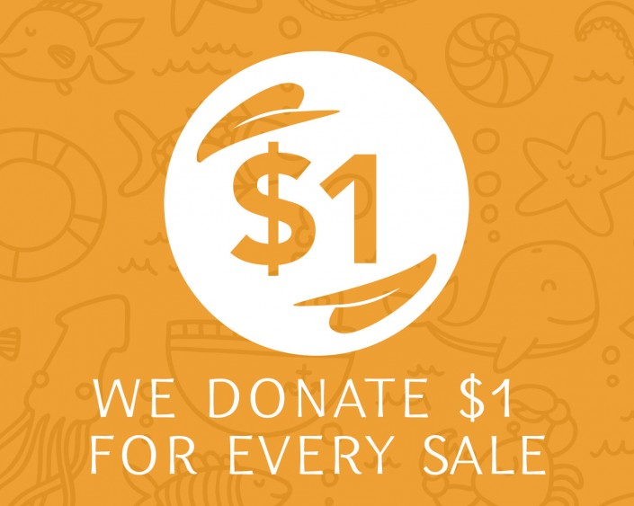 We donate $1 from every sale to Mission Blue Foundation