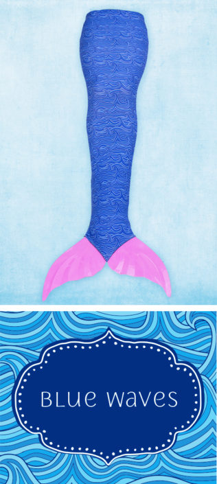 Ocea Creations Mermaid swim tail - Blue Waves