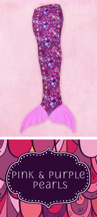Ocea Creations Mermaid swim tail - Pink and Purple Pearls