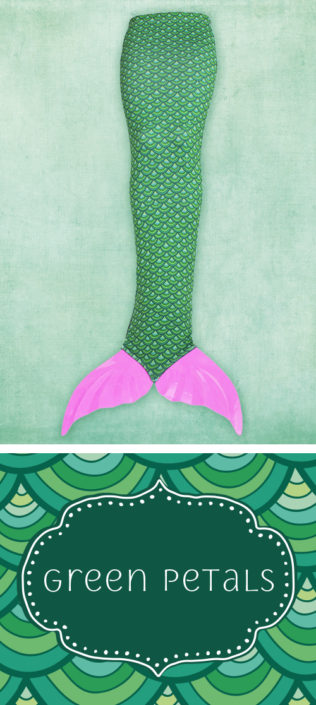 Ocea Creations Mermaid swim tail - Green Petals